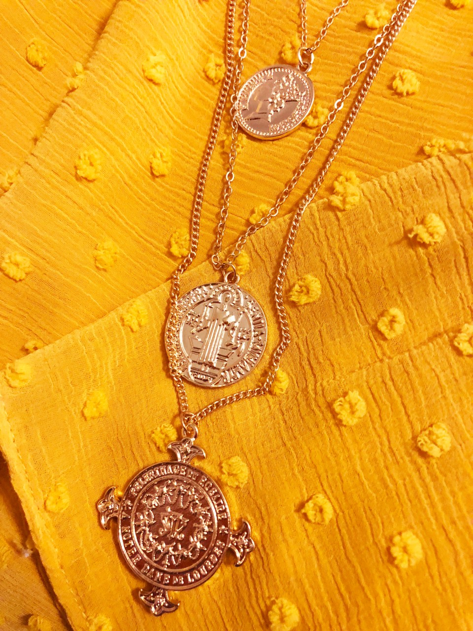 Sacred Heart Layered Necklace 1