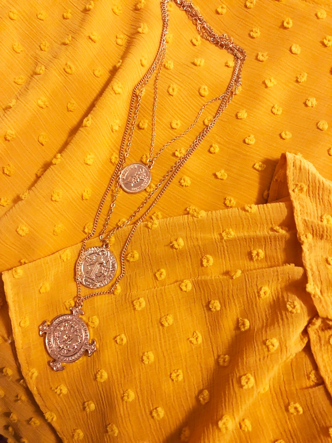 Sacred Heart Layered Necklace