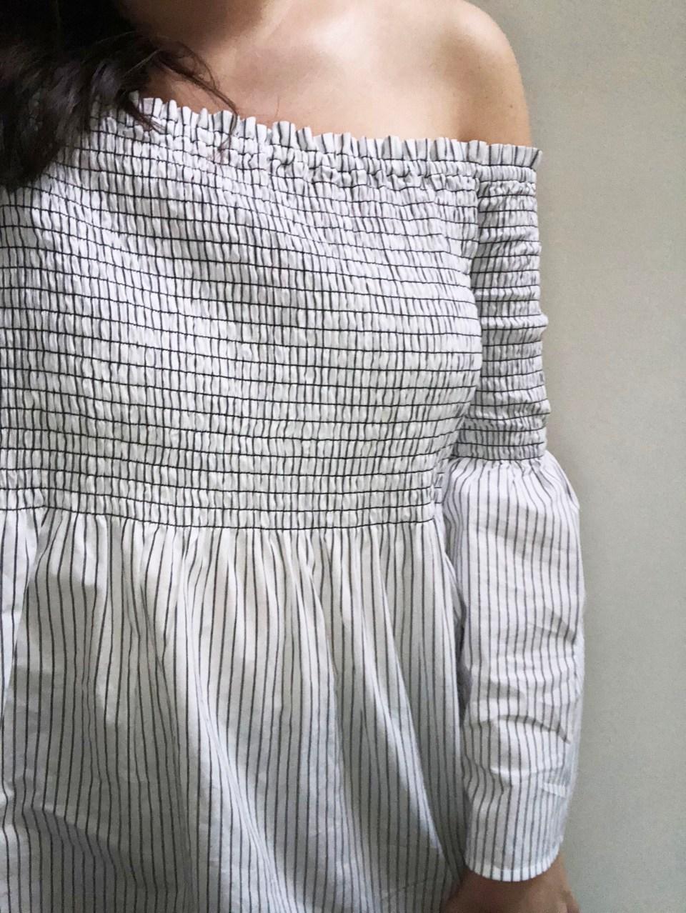Striped Smocked OTS 10