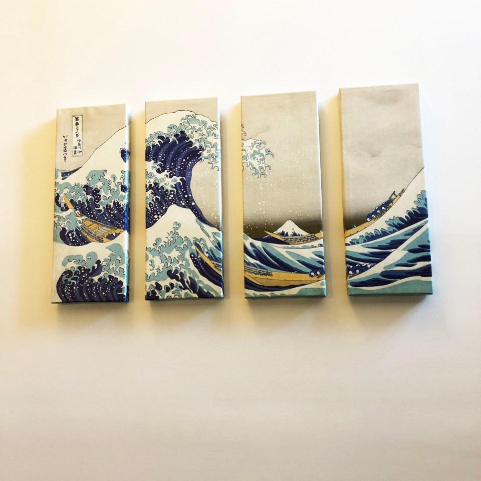 The Great Wave Off Kanagawa - Panel Art