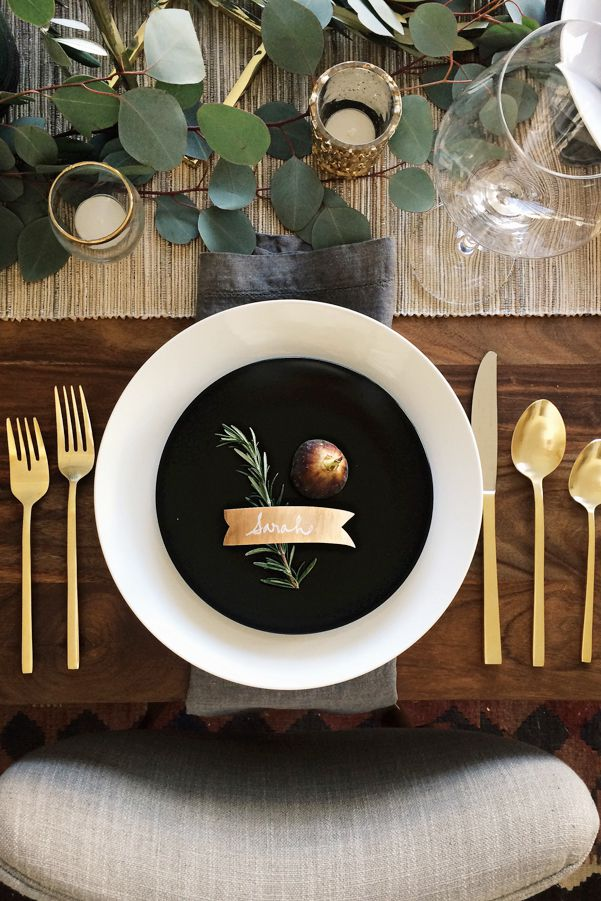 Black-White-Gold Tablescape