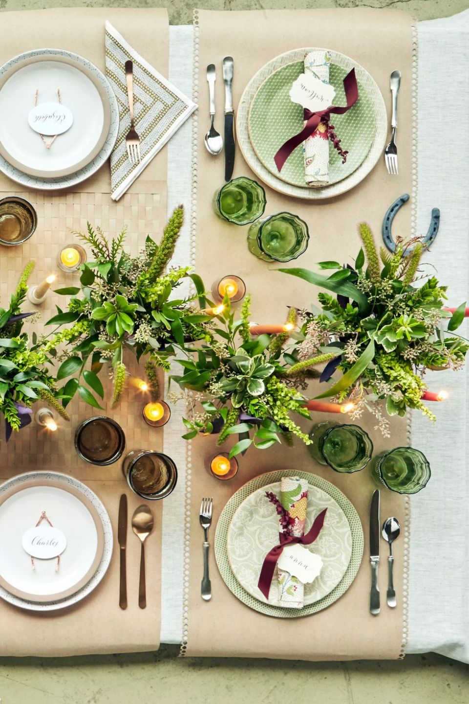 Green Charger Tablescape