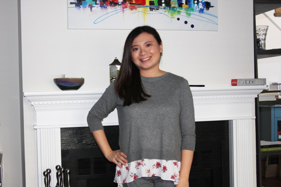 Grey & Floral Layered Top 8