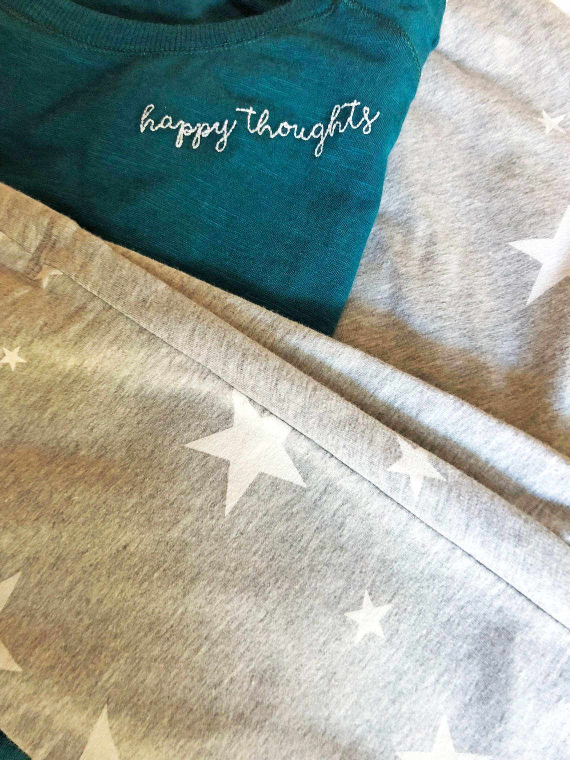 Happy Thoughts Tee + Star Joggers