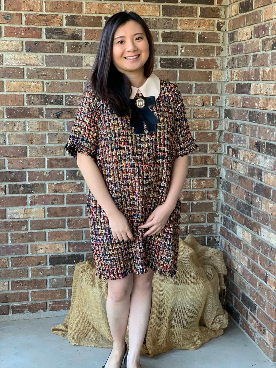 Multicolor Embellished Shift Dress 10