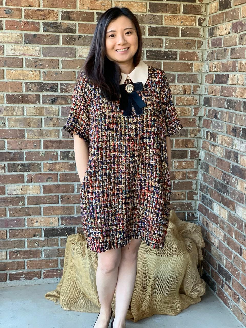 Multicolor Embellished Shift Dress 11