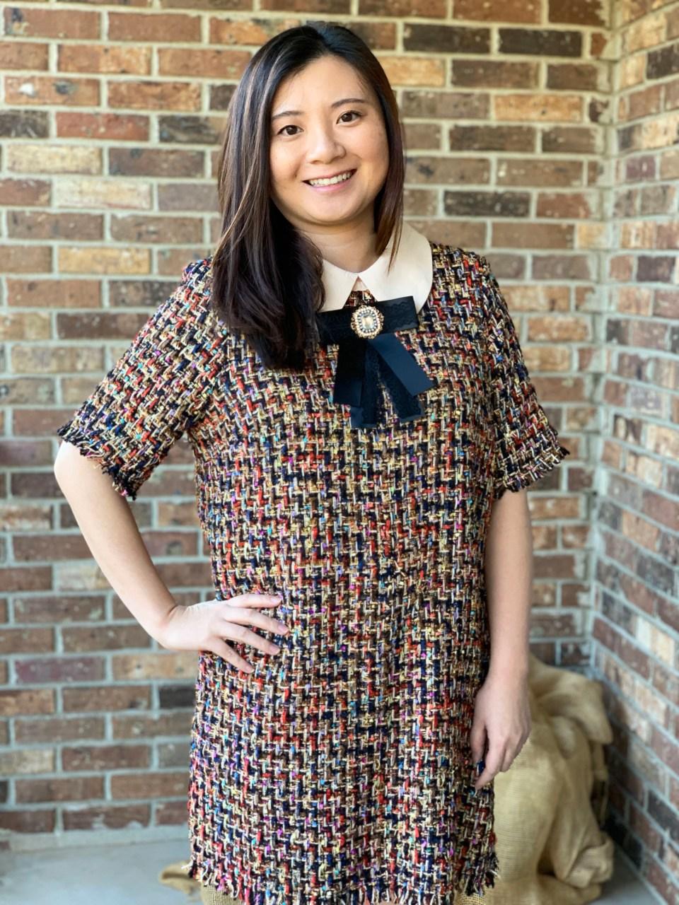 Multicolor Embellished Shift Dress 16