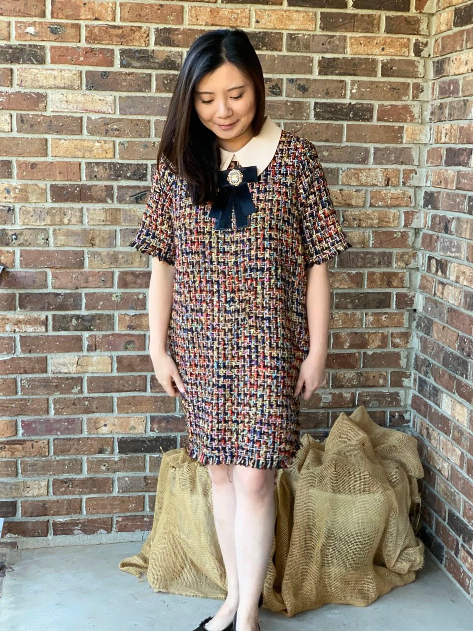 Multicolor Embellished Shift Dress 8