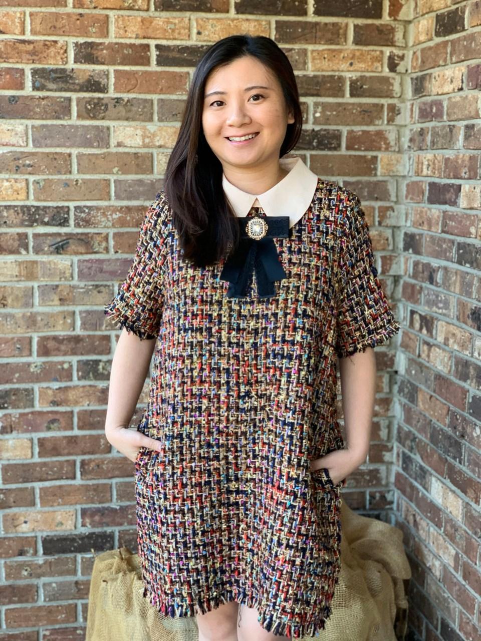 Multicolor Embellished Shift Dress