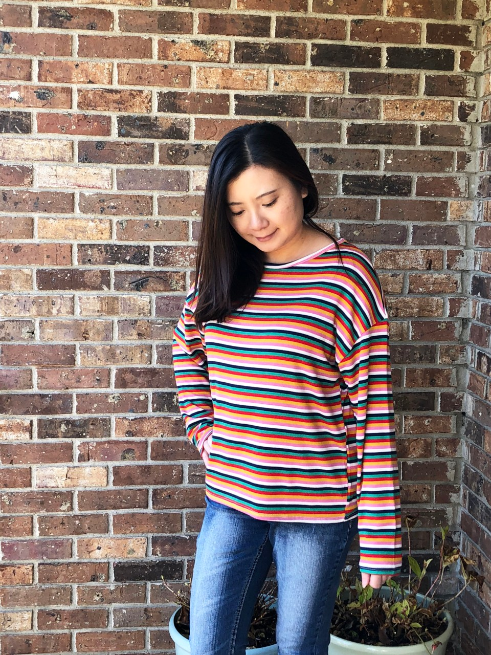Multicolor Oversized Striped Top 1