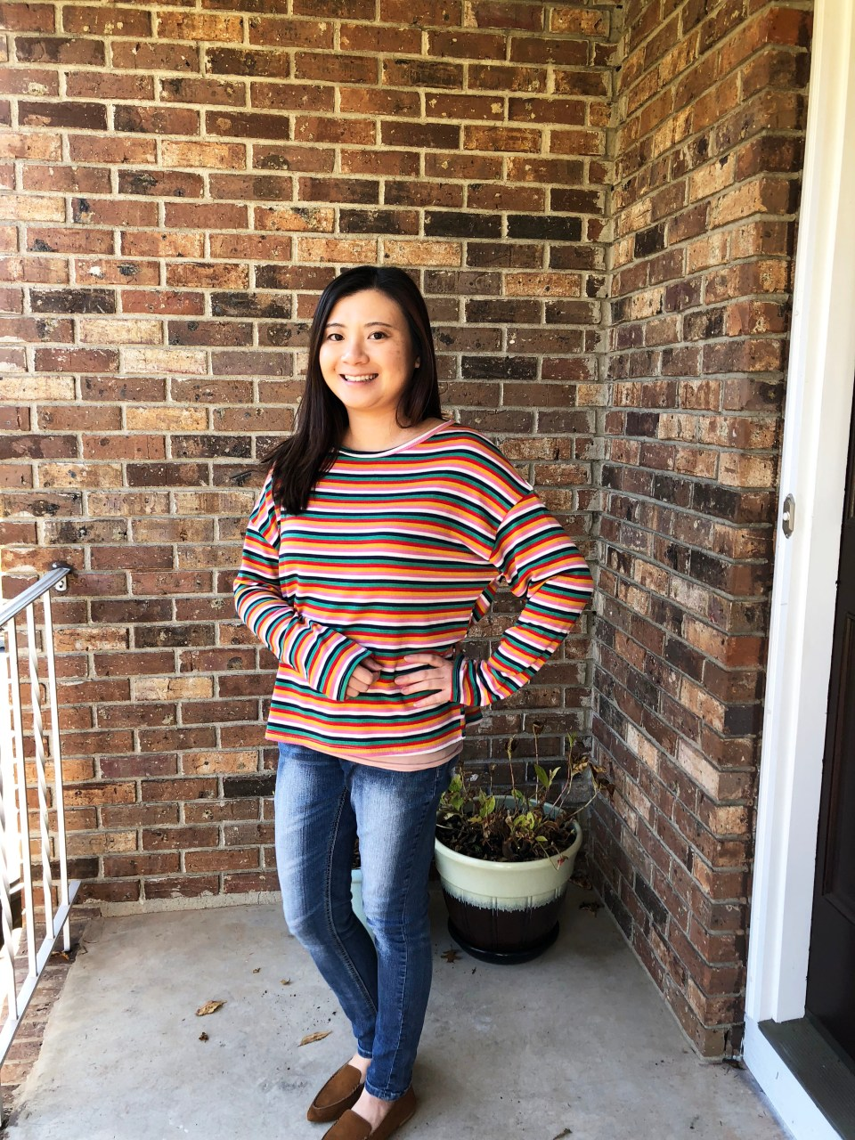 Multicolor Oversized Striped Top 12