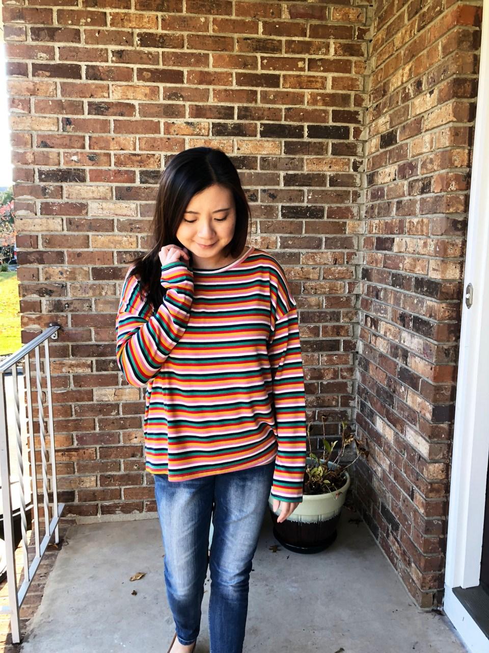 Multicolor Oversized Striped Top 14