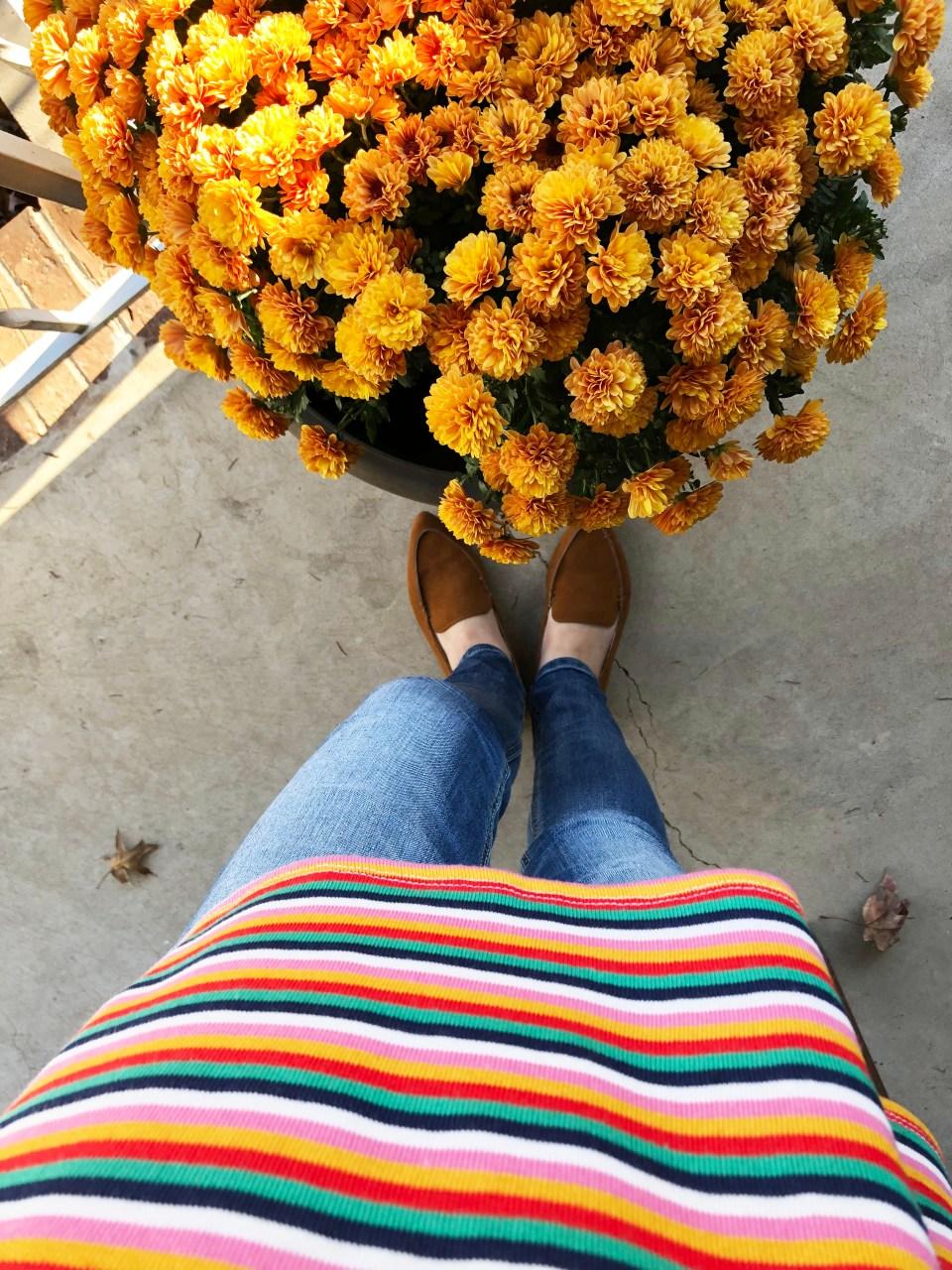 Multicolor Oversized Striped Top 15