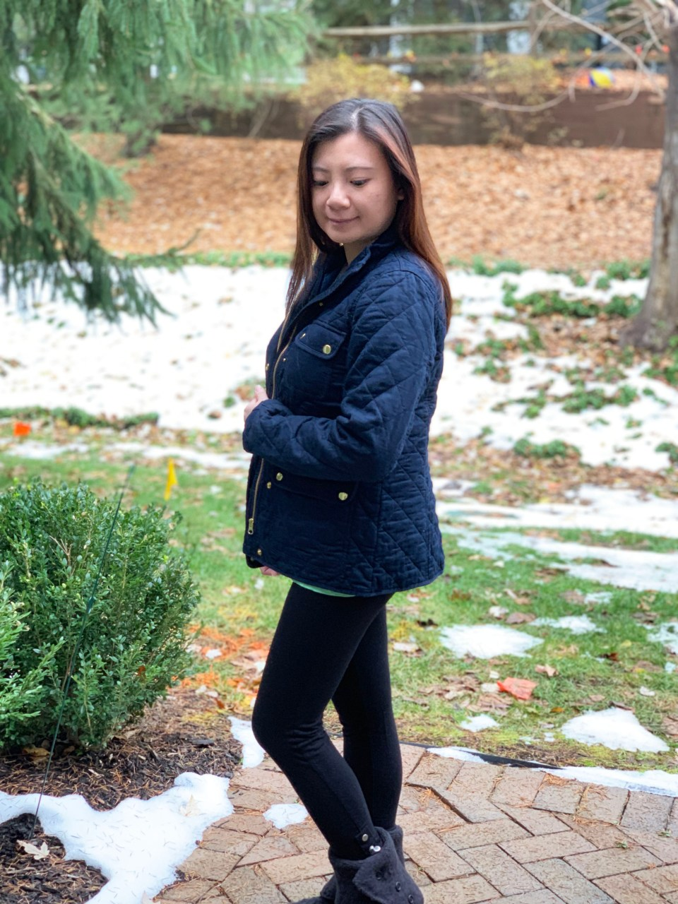 Navy Blue Quilted Jacket 1