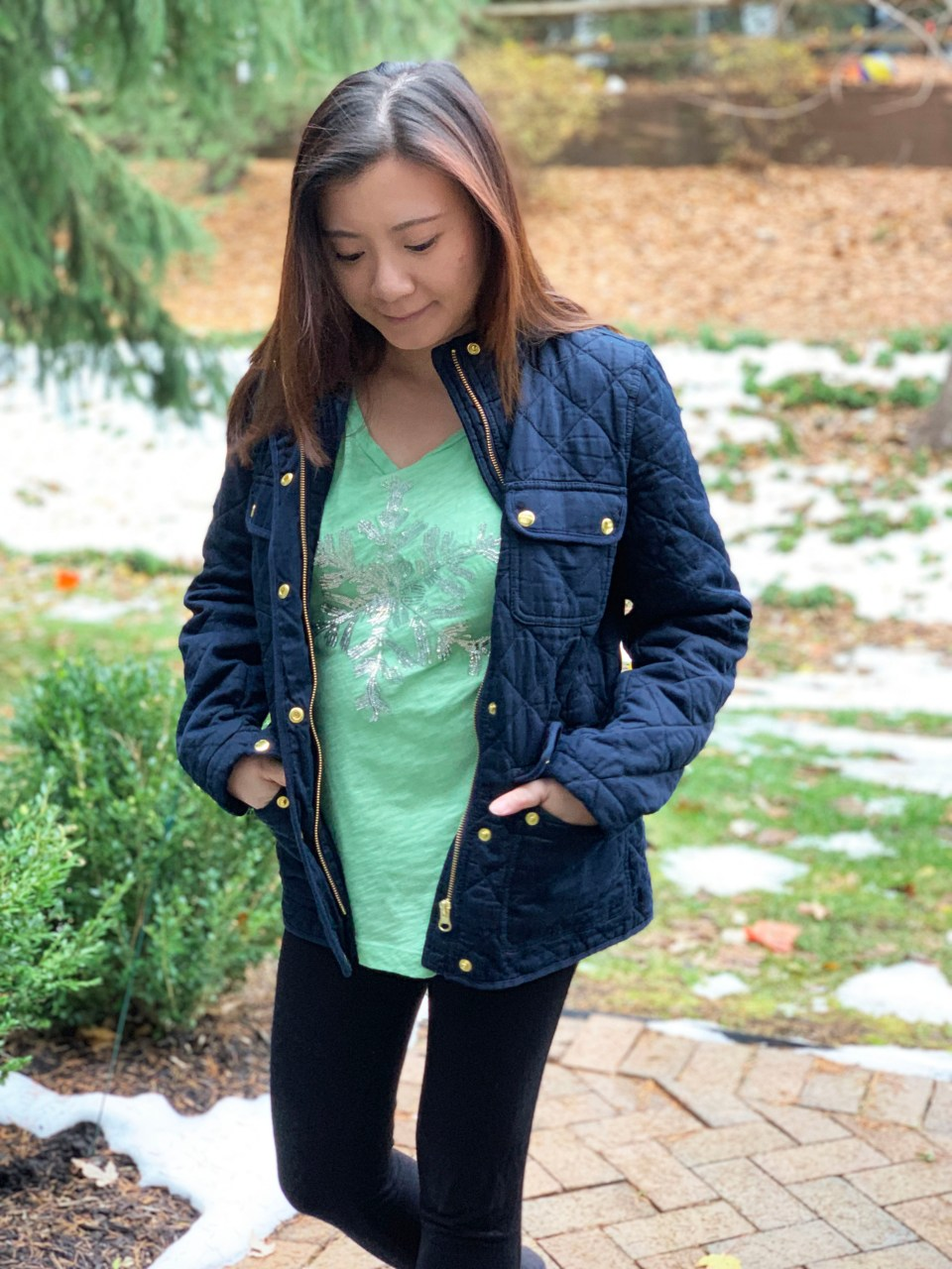 Navy Blue Quilted Jacket 9