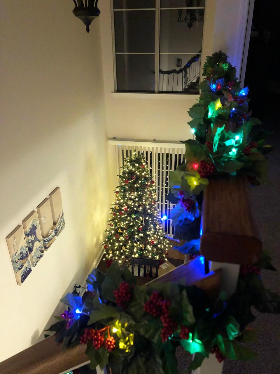 Christmas Garland + Lights 11