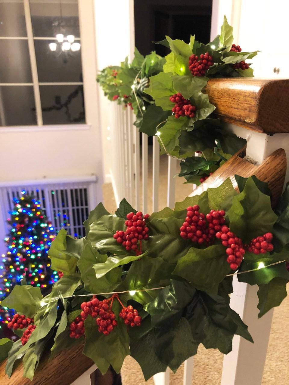 Christmas Garland + Lights 6