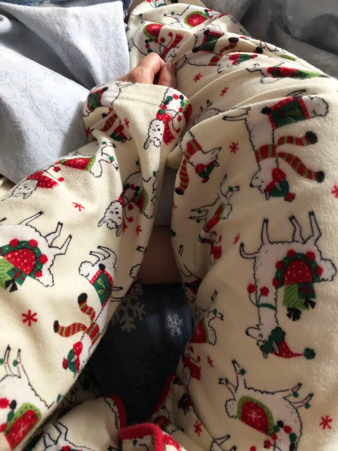 Christmas llama pajamas