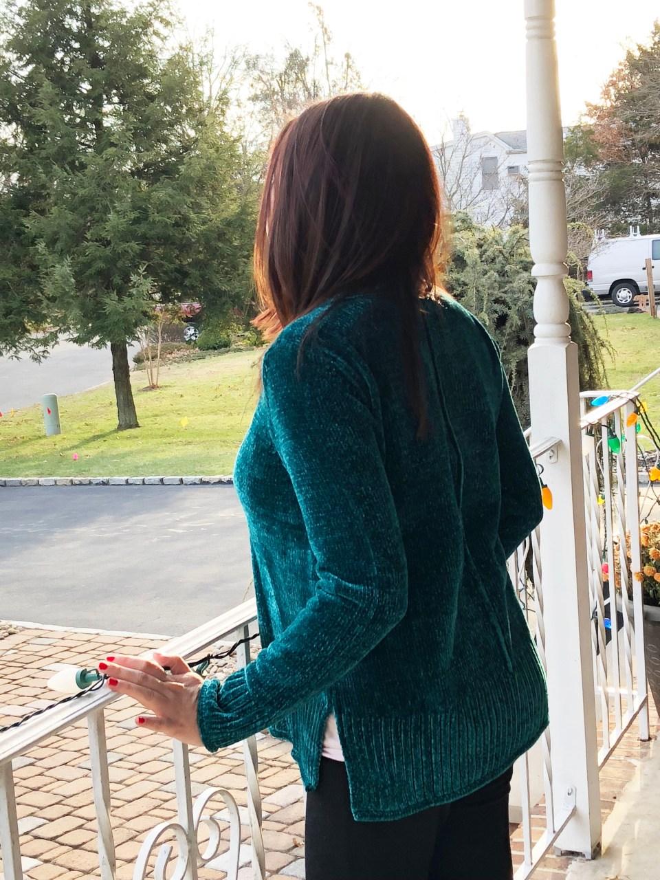 Green Chenille Sweater 3
