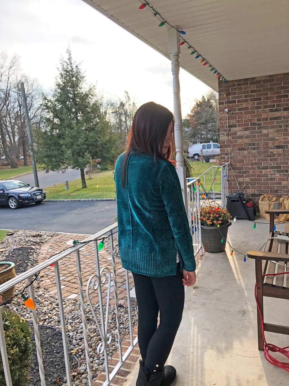 Green Chenille Sweater 7