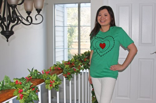 Grinch - Heart Two Sizes Too Small Tee + Teddy Leggings