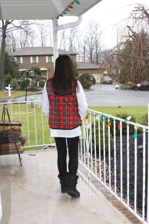 Merry Christmas tree tee + plaid vest 5