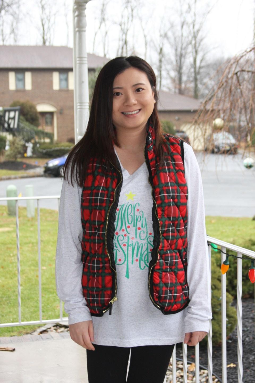 Merry Christmas tree tee + plaid vest 8