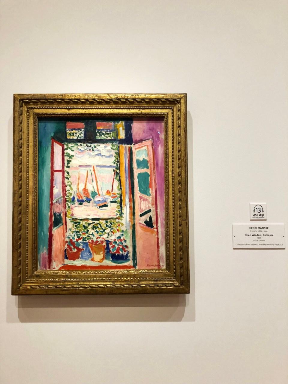 National Gallery of Art - Matisse - Open Window, Collioure