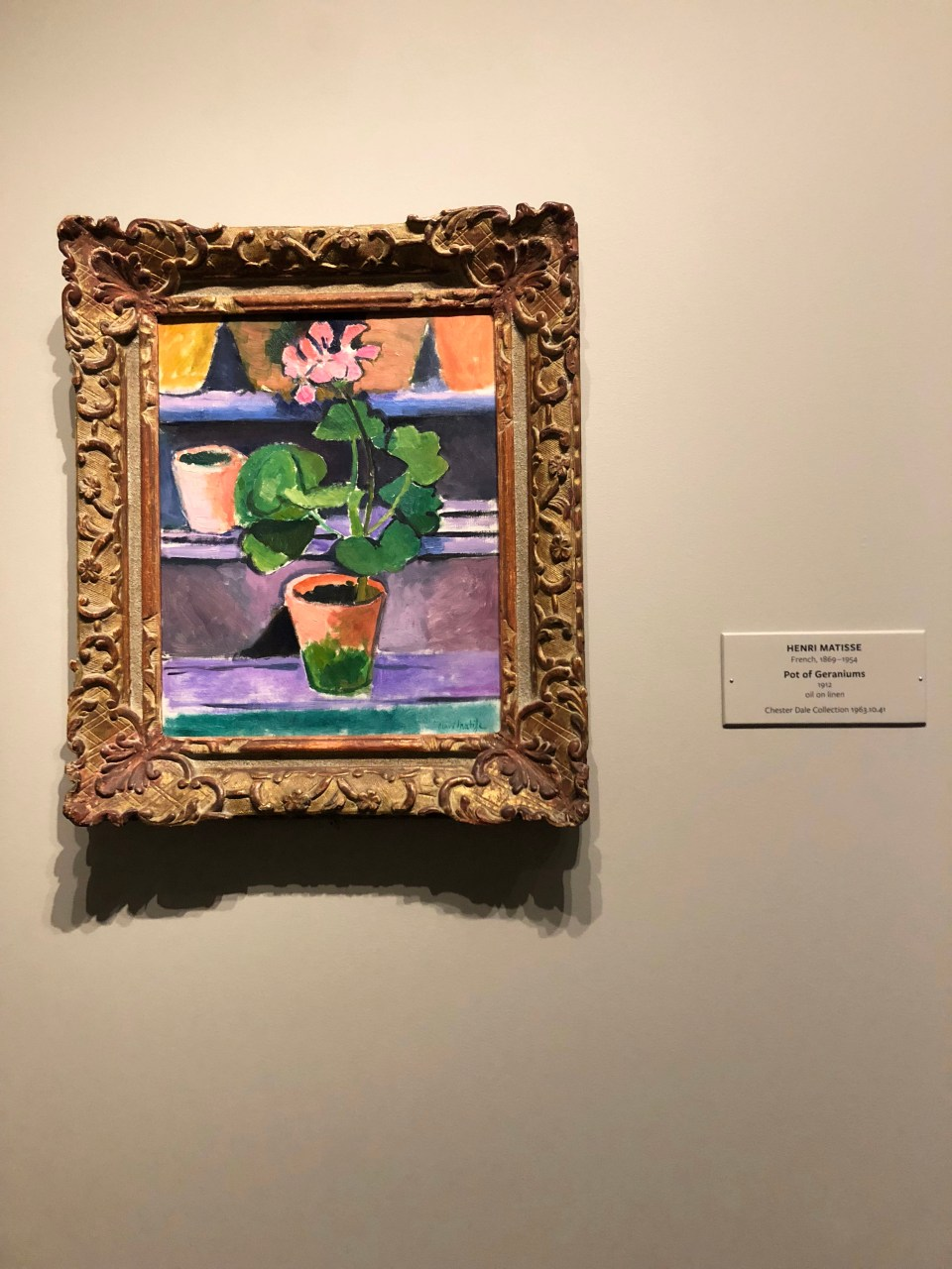 National Gallery of Art - Matisse - Pot of Geraniums