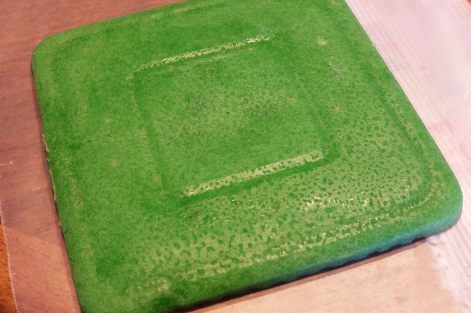 Rainbow Cookie - green layer