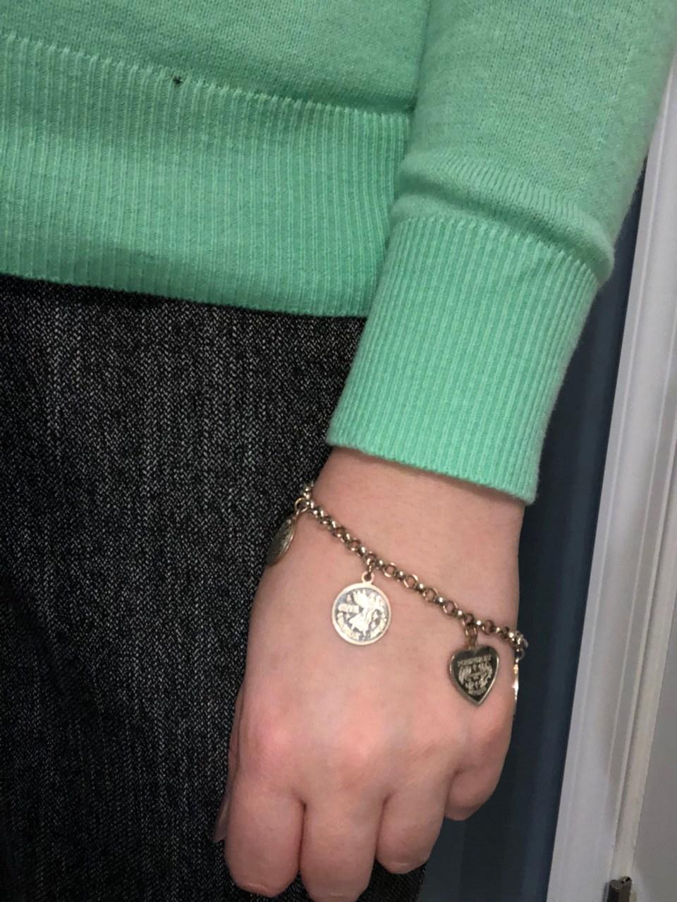 Angel Coin Charm Bracelet 7