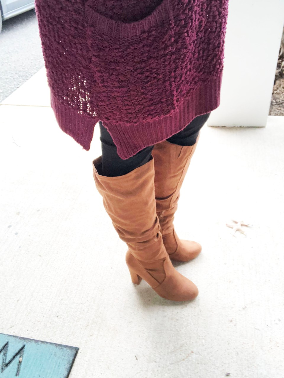 Burgundy Popcorn Sweater 14