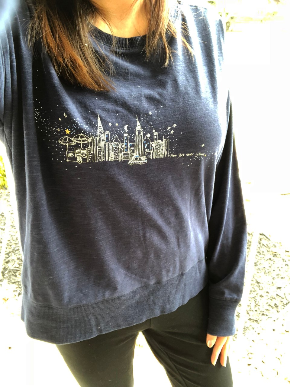 Cityscape Graphic Tee + Knit Nikes 10