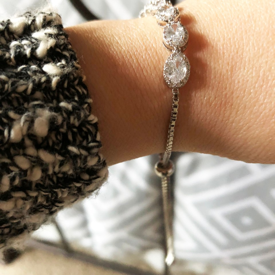 Full Line Collection - Oval Pave CZ Adjustable Bracelet 2