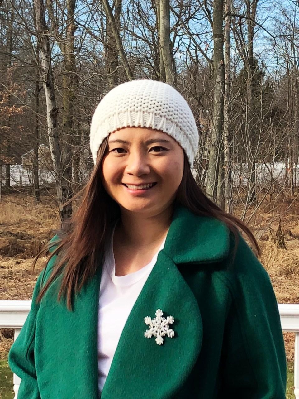 Green Lapel Coat + Snowflake Brooch 4