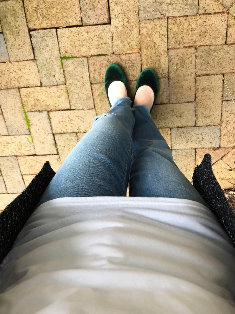 Green Velvet Flats 3
