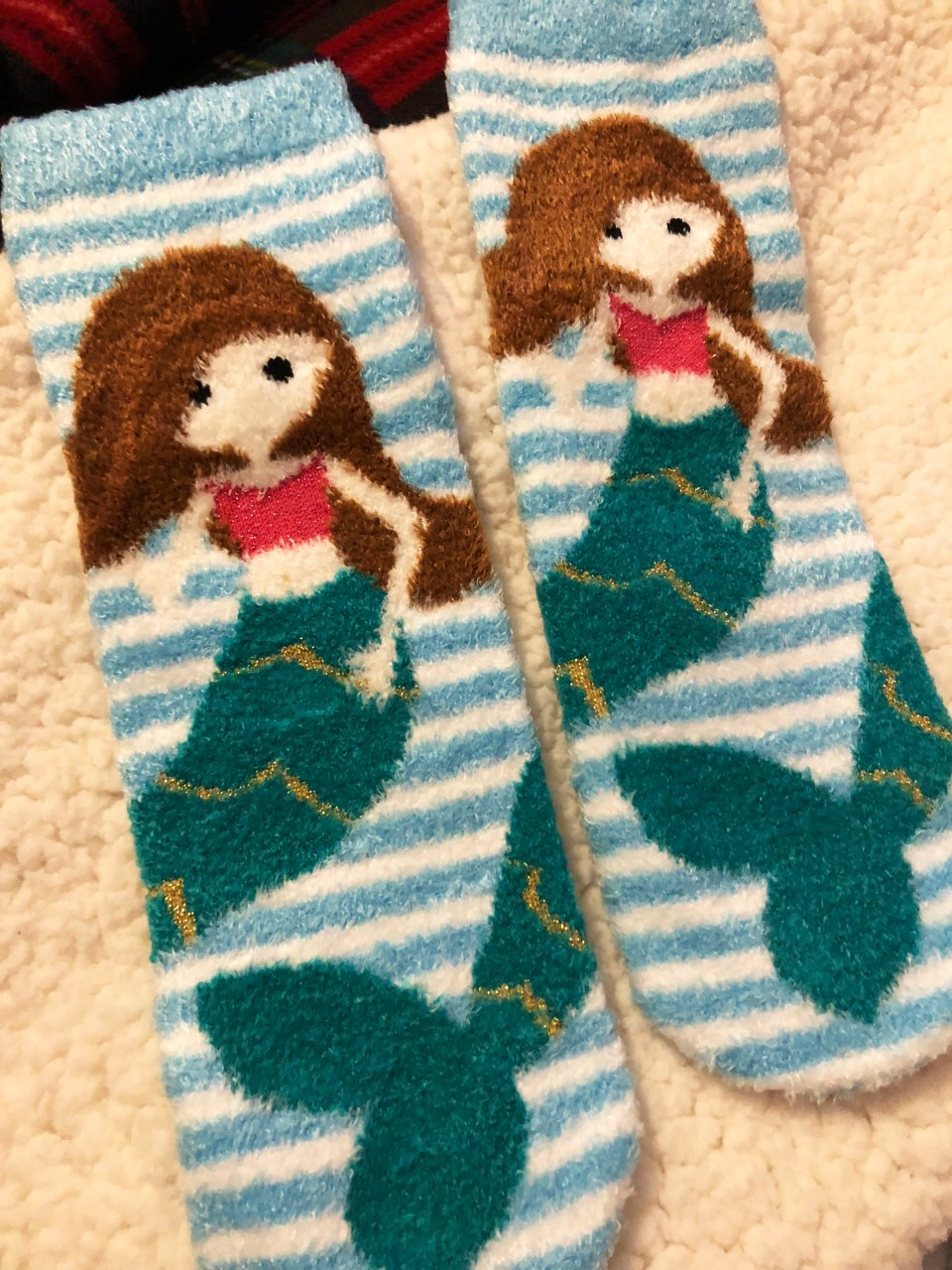 Mermaid Fuzzy Socks