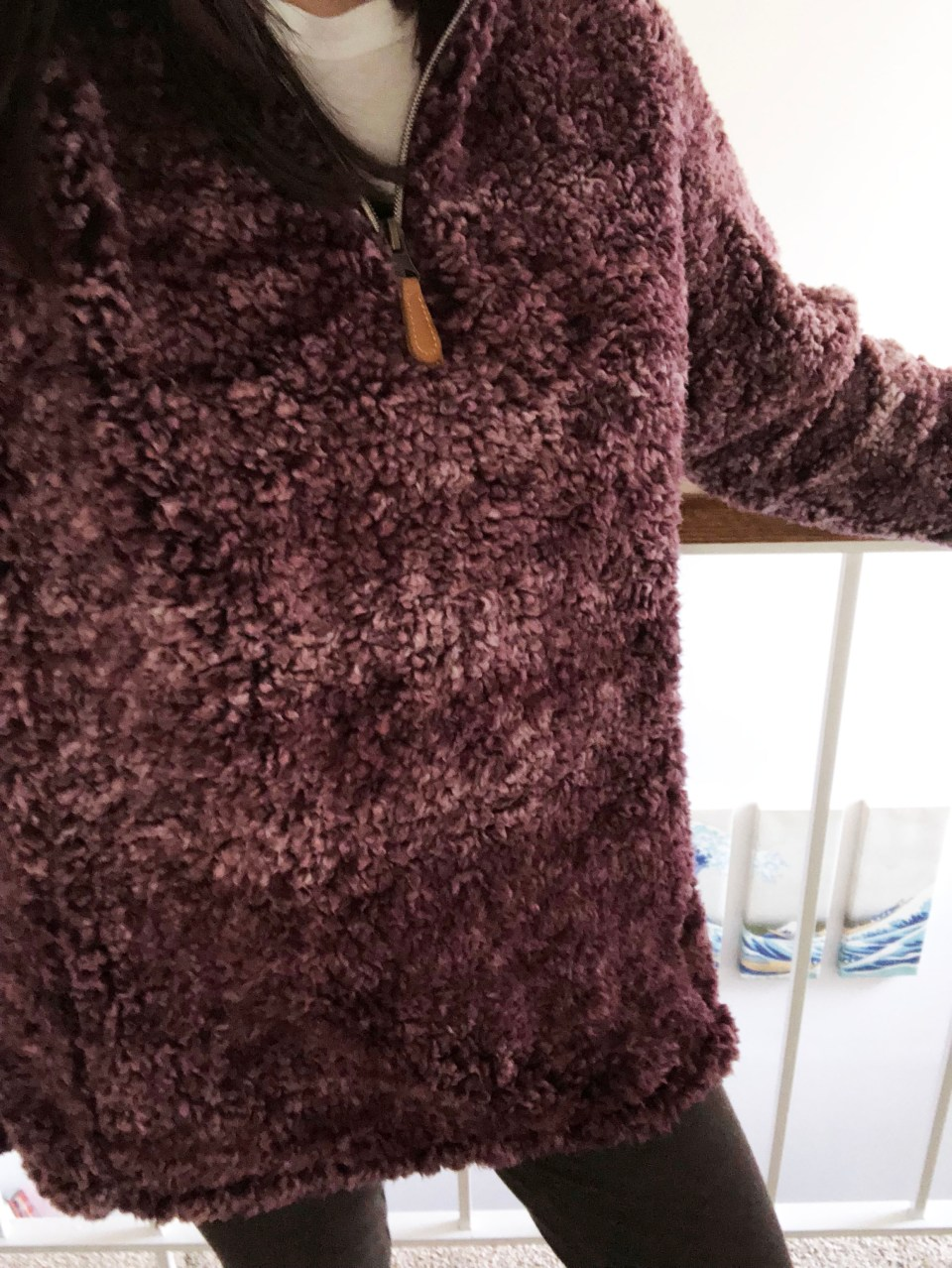 Plum Sherpa Pullover 7