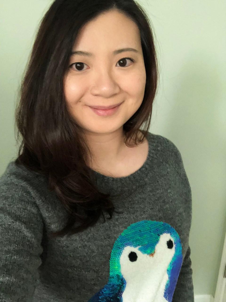 Sequin Penguin Sweater