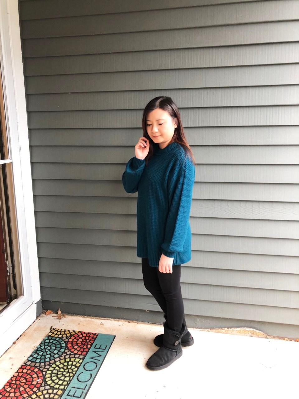 Teal Cloudspun Sweater 1