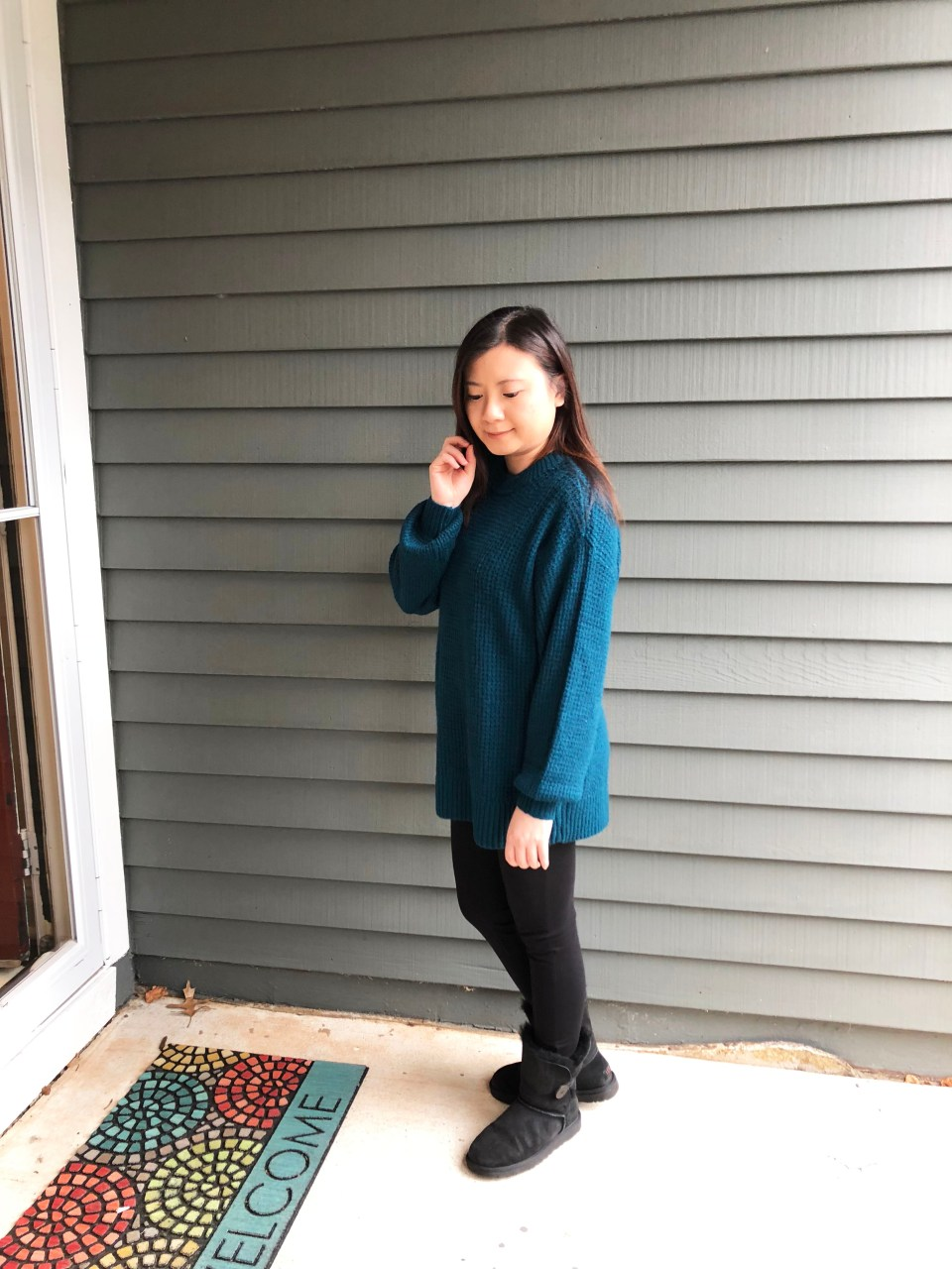Teal Cloudspun Sweater 1
