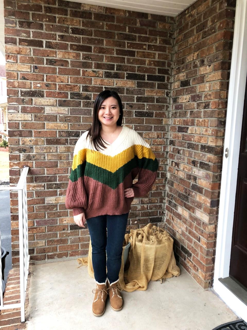 Colorblock Chevron Sweater 13