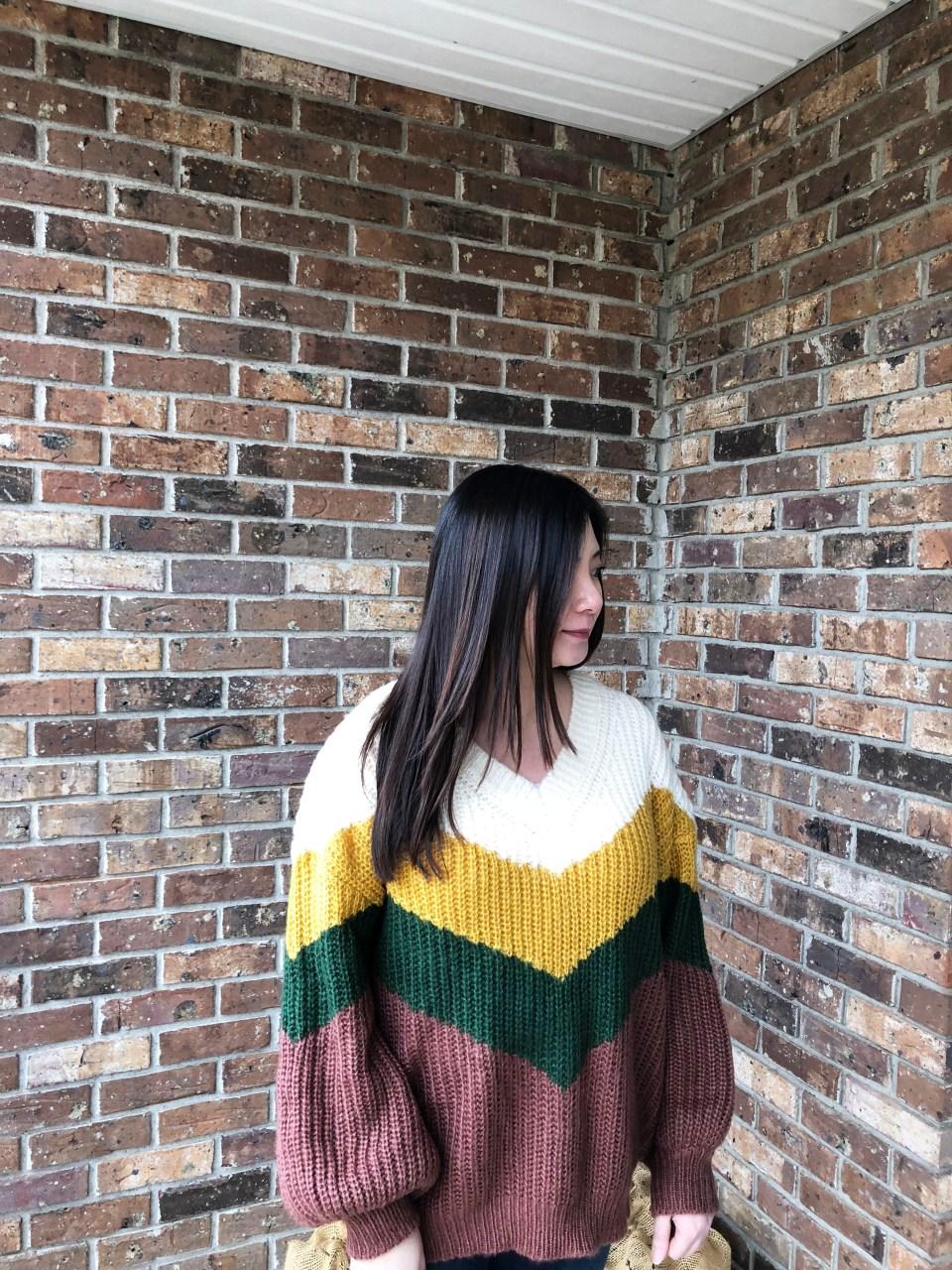 Colorblock Chevron Sweater 3