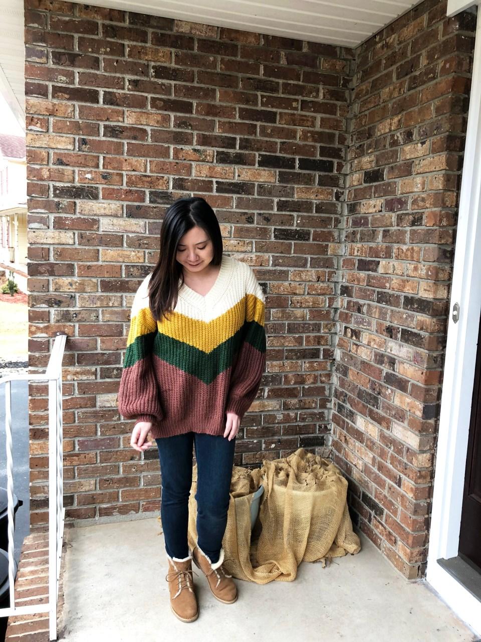Colorblock Chevron Sweater 6