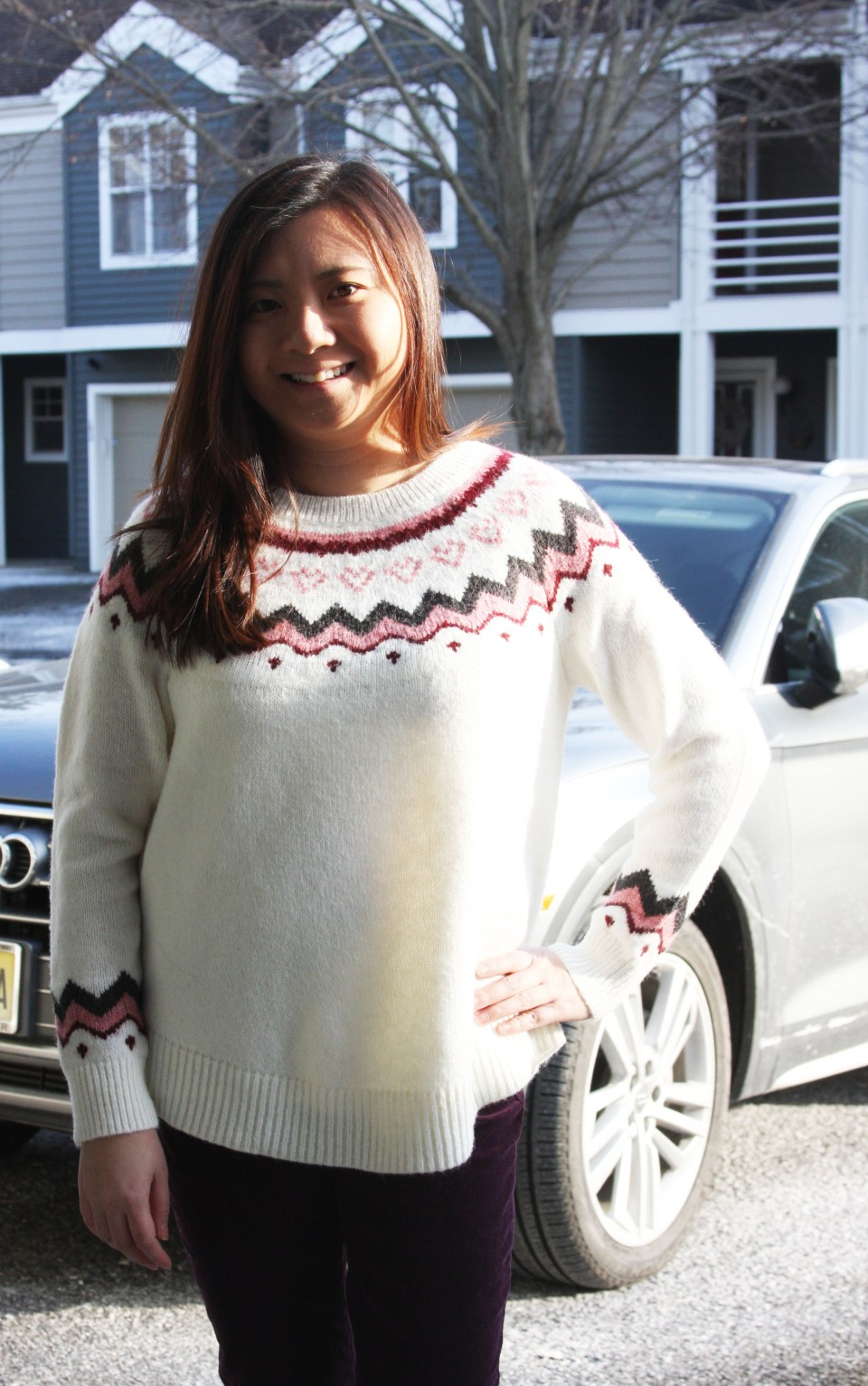 Pink Melange Fairisle Sweater 1