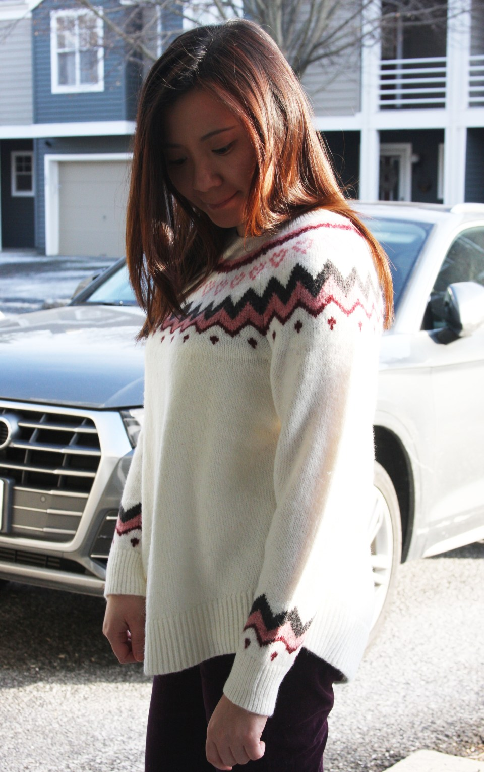 Pink Melange Fairisle Sweater 2