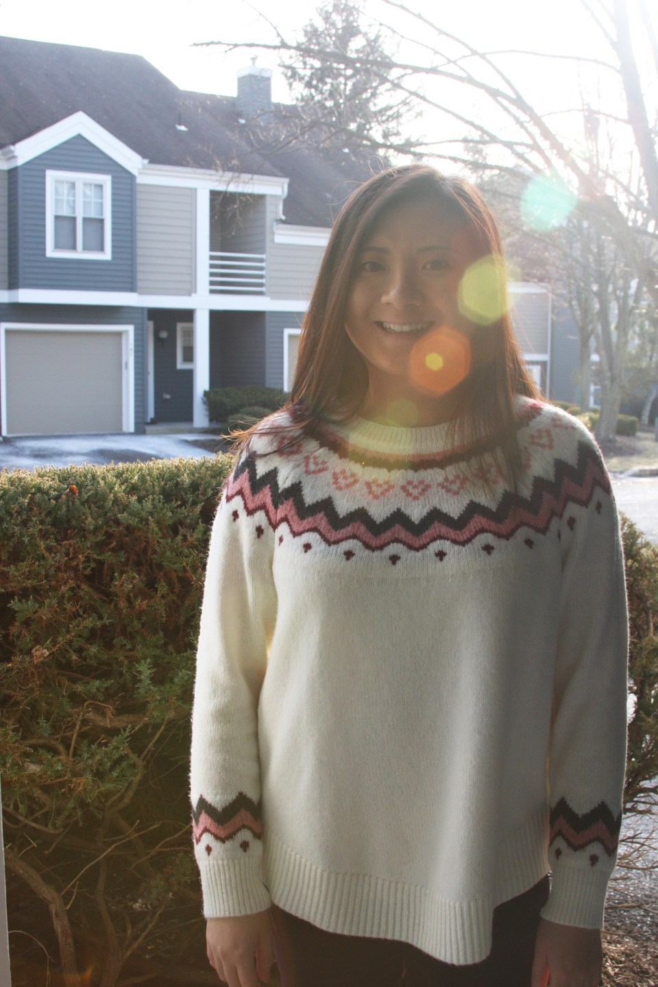 Pink Melange Fairisle Sweater 4