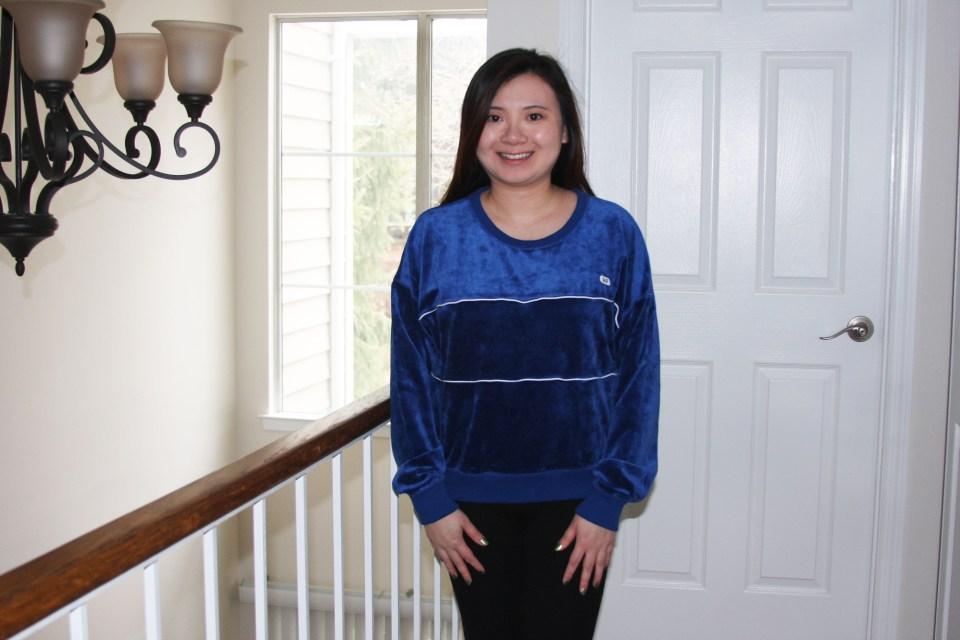 Blue Velour Sweatshirt 3