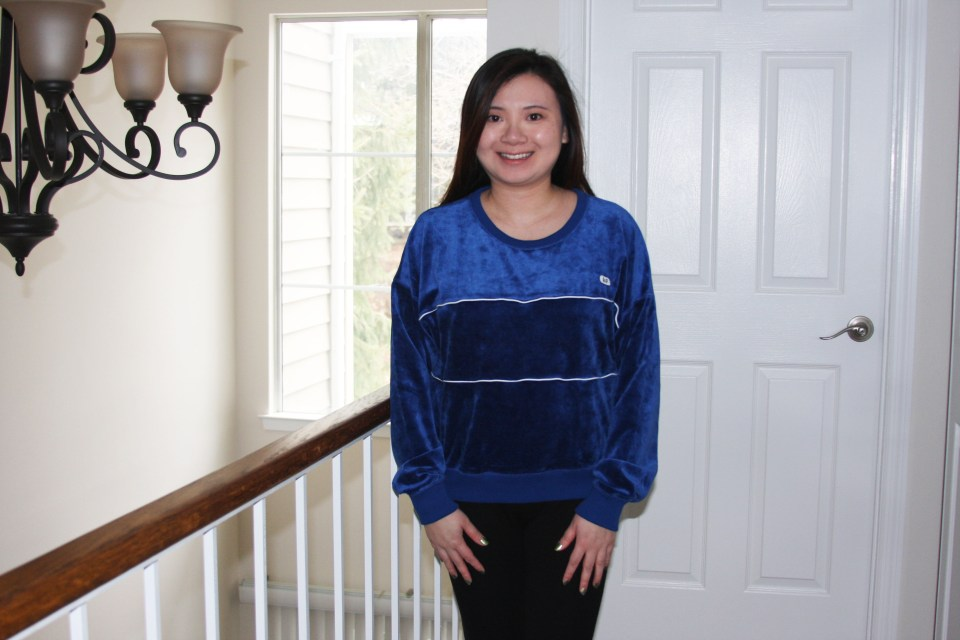 Blue Velour Sweatshirt 3