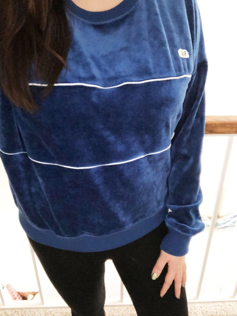 Blue Velour Sweatshirt 8